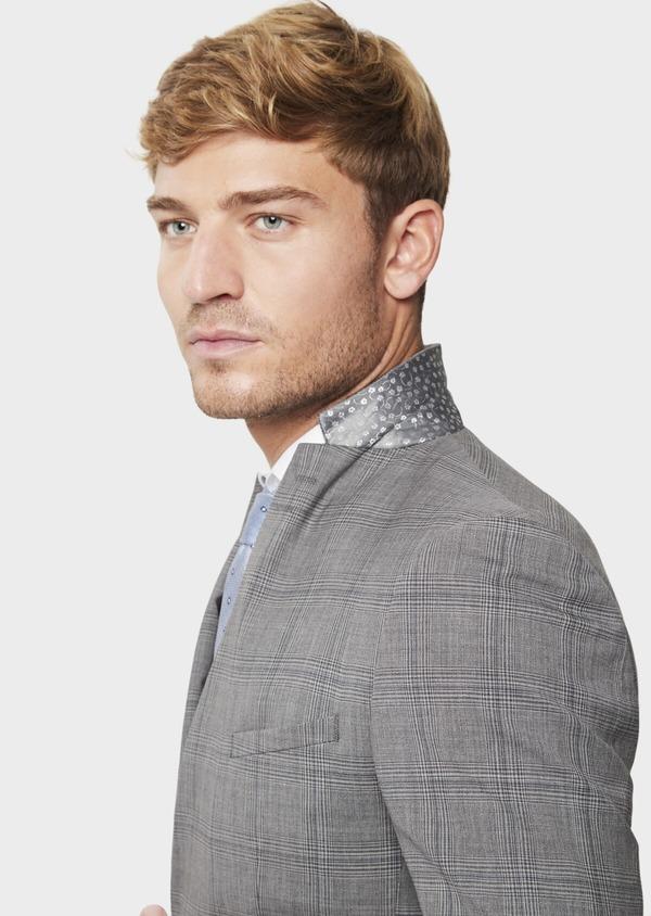 Costume 2 pièces Slim en laine gris clair Prince de Galles - Father and Sons 41973