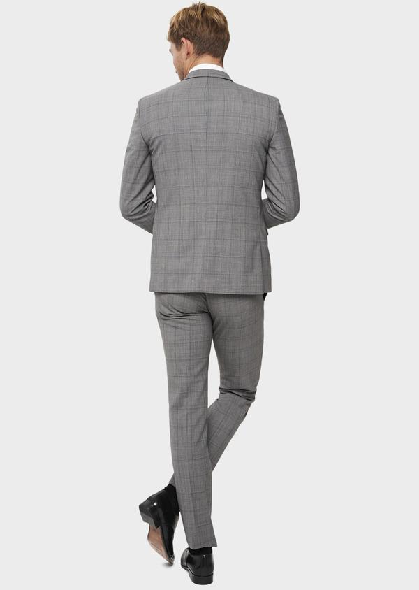 Costume 2 pièces Slim en laine gris clair Prince de Galles - Father and Sons 41972