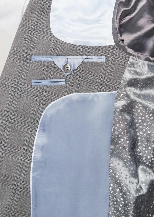 Costume 2 pièces Slim en laine gris clair Prince de Galles - Father and Sons 41975