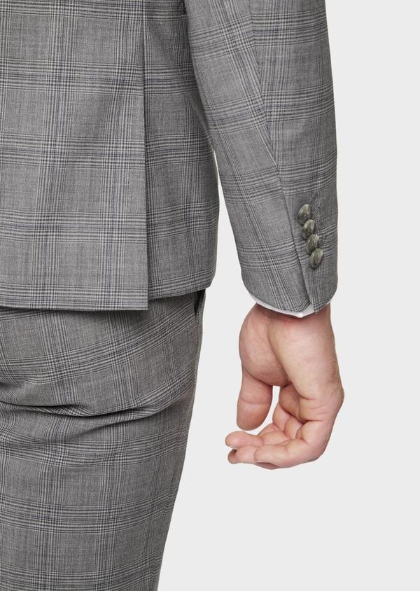 Costume 2 pièces Slim en laine gris clair Prince de Galles - Father and Sons 41974