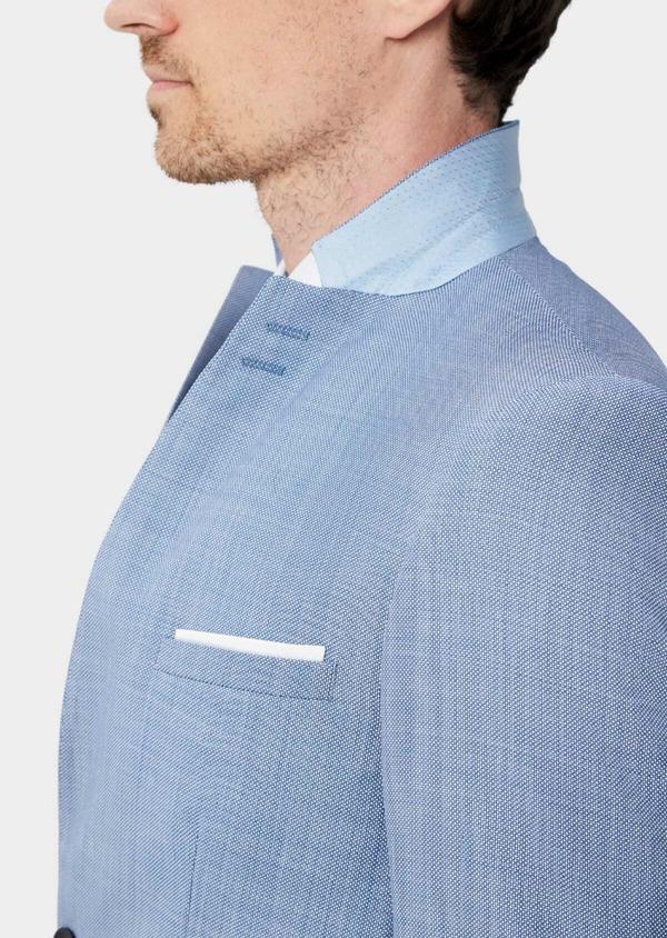 Costume 2 pièces Regular en laine mélangée unie bleue - Father and Sons 40568