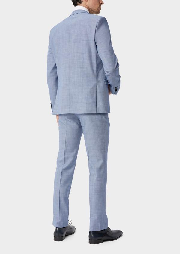 Costume 2 pièces Regular en laine mélangée unie bleue - Father and Sons 40569