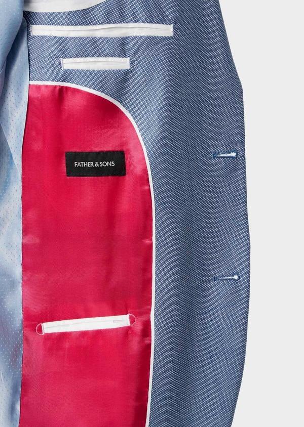 Costume 2 pièces Regular en laine mélangée unie bleue - Father and Sons 40571