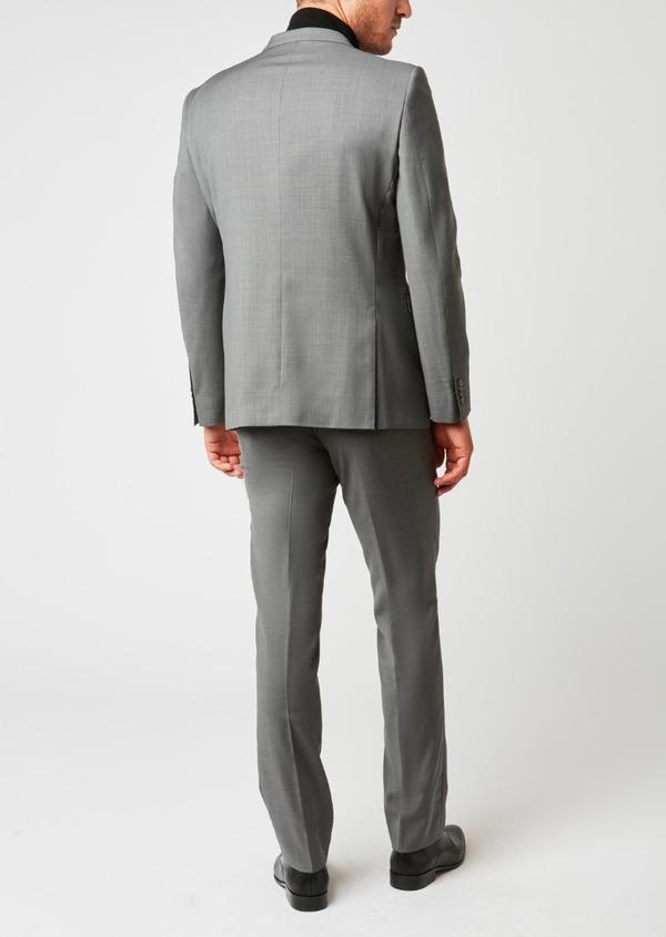 Costume 2 pièces Regular en laine façonnée unie gris clair - Father and Sons 37372