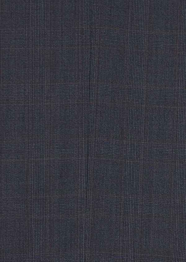 Costume 2 pièces Slim en laine stretch naturelle bleu chambray Prince de Galles - Father and Sons 37335