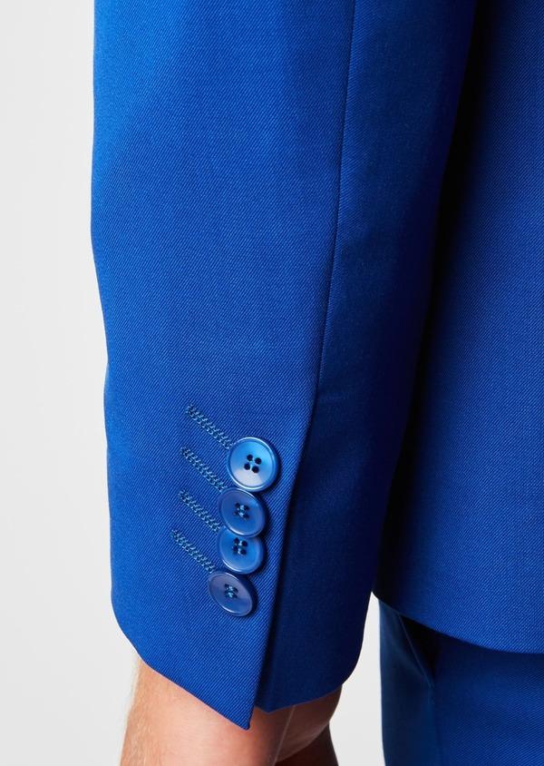 Costume 2 pièces Slim en laine unie bleu roi - Father and Sons 37369