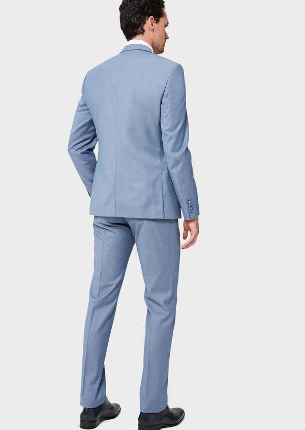 Costume 2 pièces Slim en laine unie bleu pâle - Father and Sons 41965