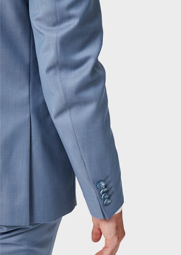 Costume 2 pièces Slim en laine unie bleu pâle - Father and Sons 41968