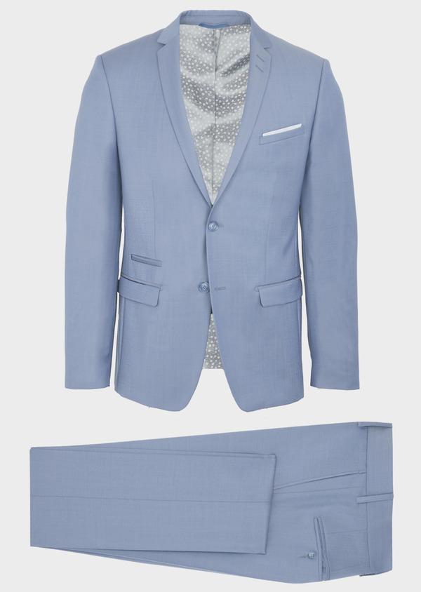 Costume 2 pièces Slim en laine unie bleu pâle - Father and Sons 41963