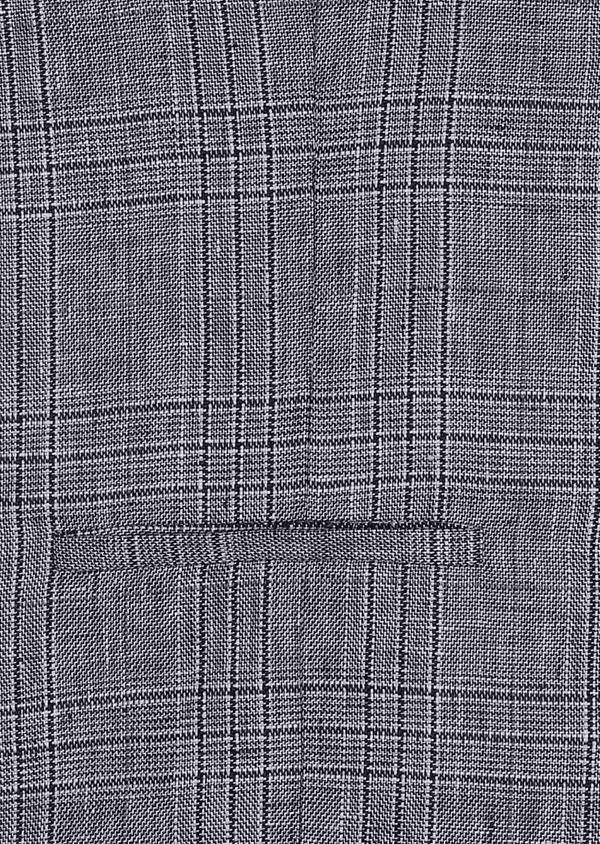 Gilet casual en lin bleu Prince de Galles - Father and Sons 34328
