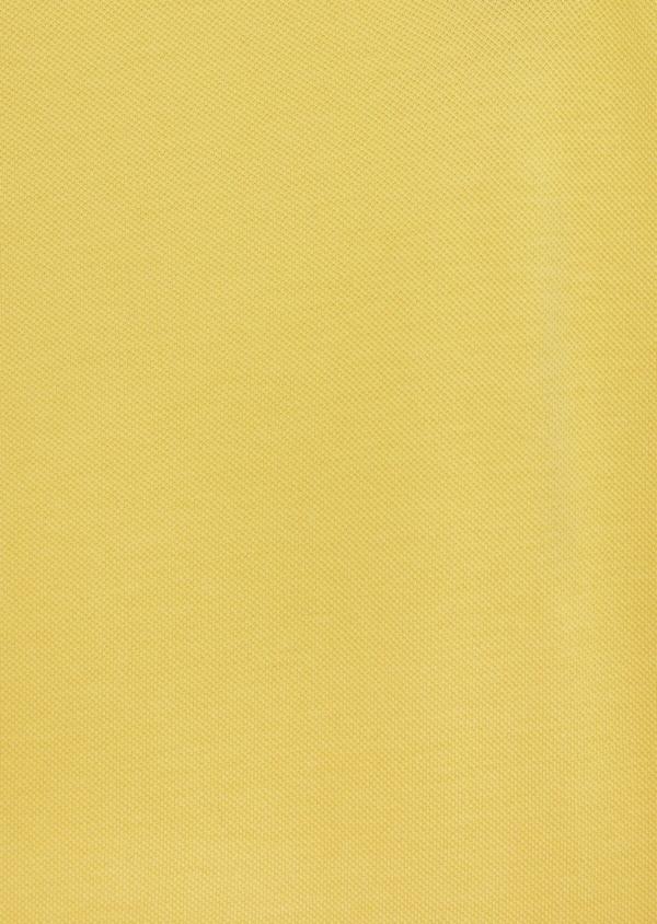 Polo manches courtes Slim en coton uni jaune - Father and Sons 40493