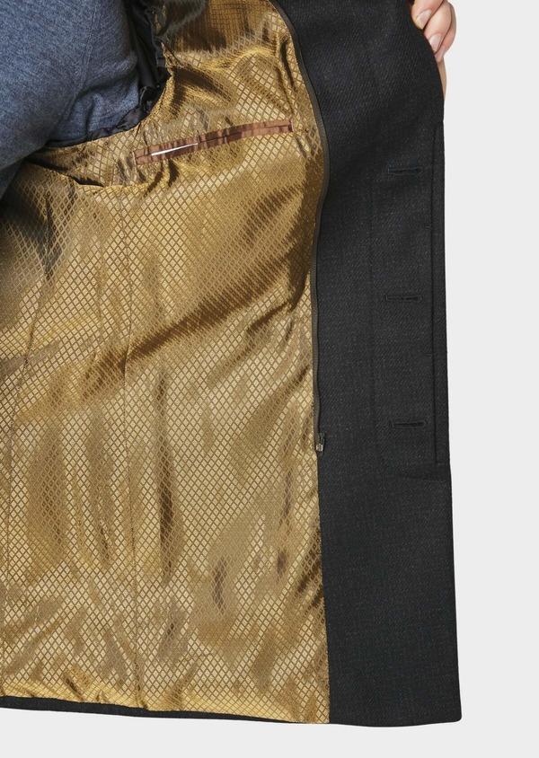 Manteau en laine à carreaux bleu marine - Father and Sons 30733