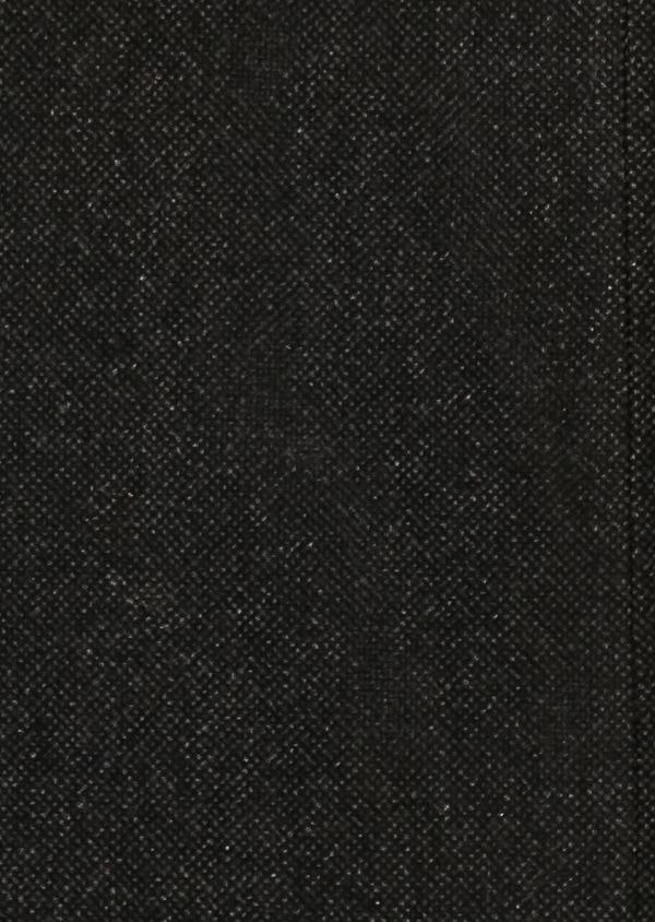 Manteau en laine mélangée façonnée à motif fantaisie gris anthracite chiné - Father and Sons 30680
