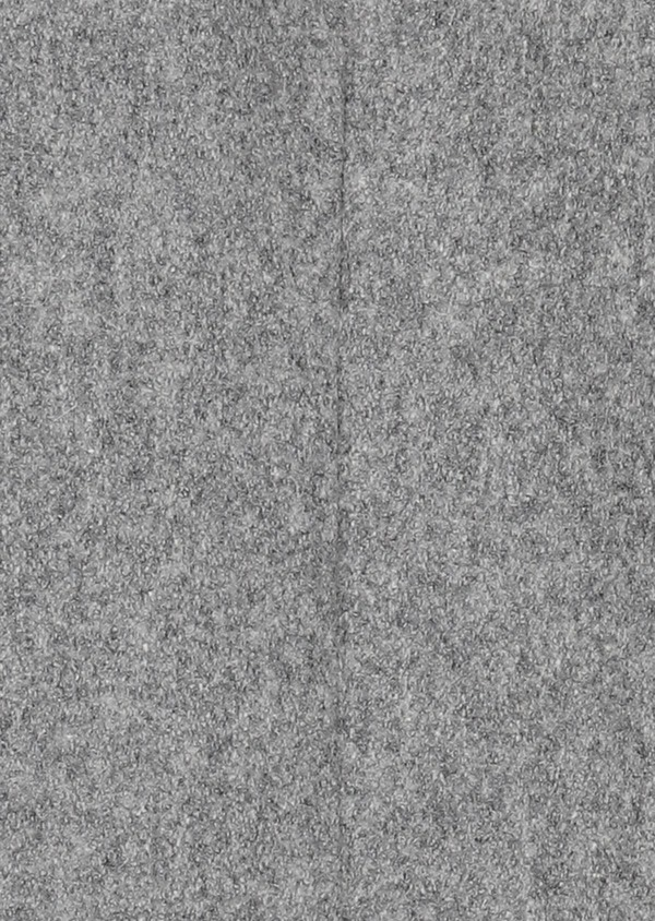 Manteau en laine mélangée unie gris perle - Father and Sons 31234
