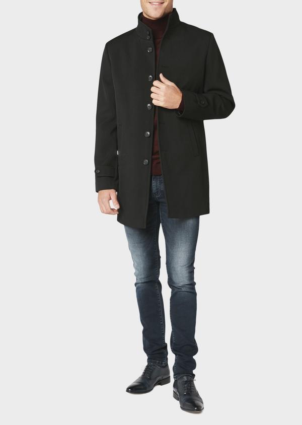 Manteau uni noir - Father and Sons 30720