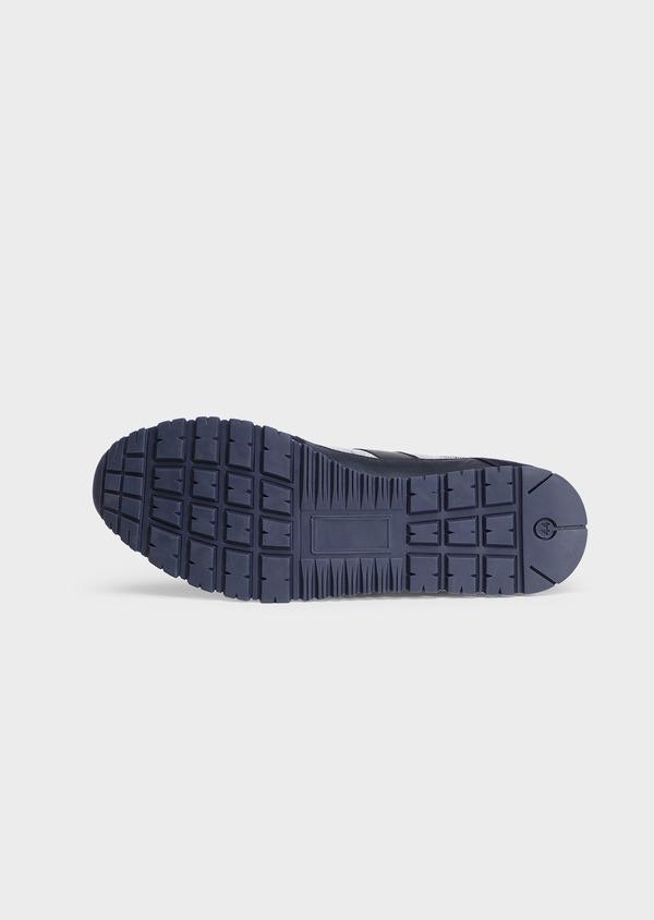 Baskets basses bleu et gris en bi-matière - Father and Sons 32259