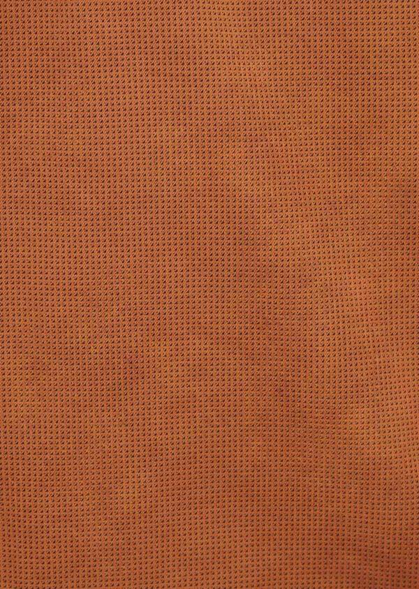 Bermuda slack en coton stretch marron à motifs géométriques - Father and Sons 40033