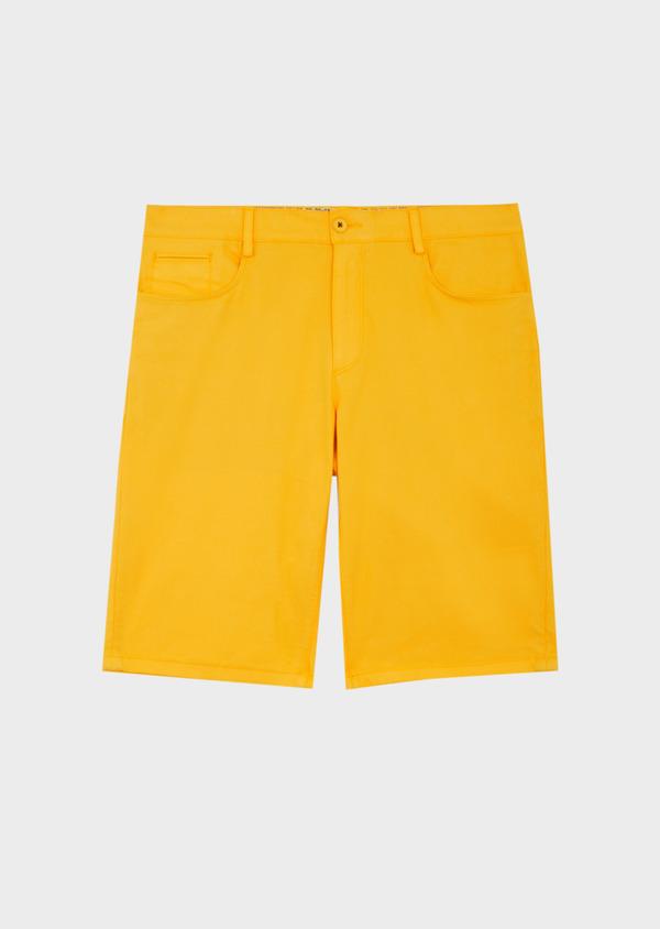 Bermuda en coton stretch uni jaune - Father and Sons 40036