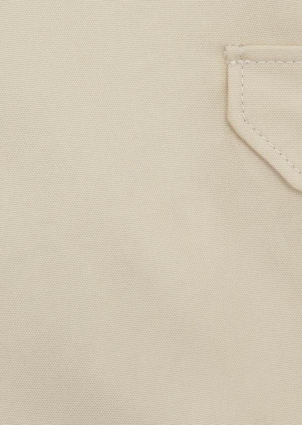 Bermuda cargo en tencel et coton uni beige - Father and Sons 39787