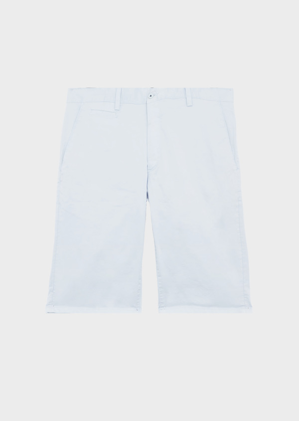 Bermuda en coton stretch uni bleu ciel - Father and Sons 39802