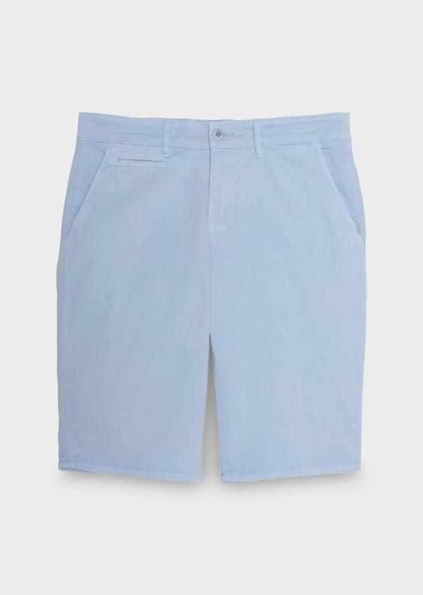Bermuda en coton stretch uni bleu ciel - Father and Sons 40620