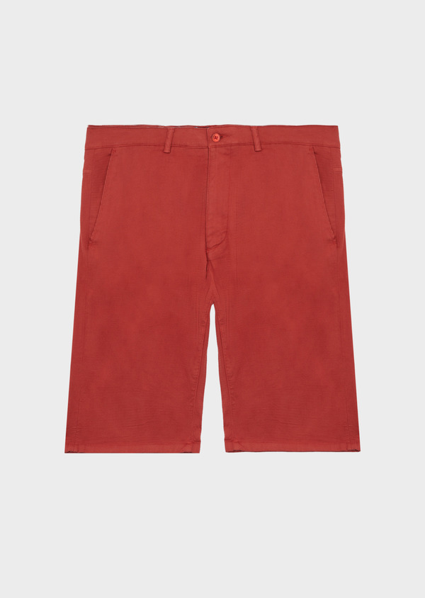 Bermuda en coton stretch uni rouge - Father and Sons 40651