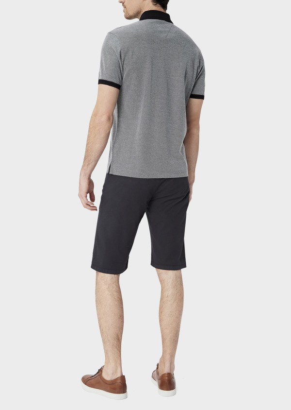 Bermuda en coton stretch uni gris anthracite - Father and Sons 39801