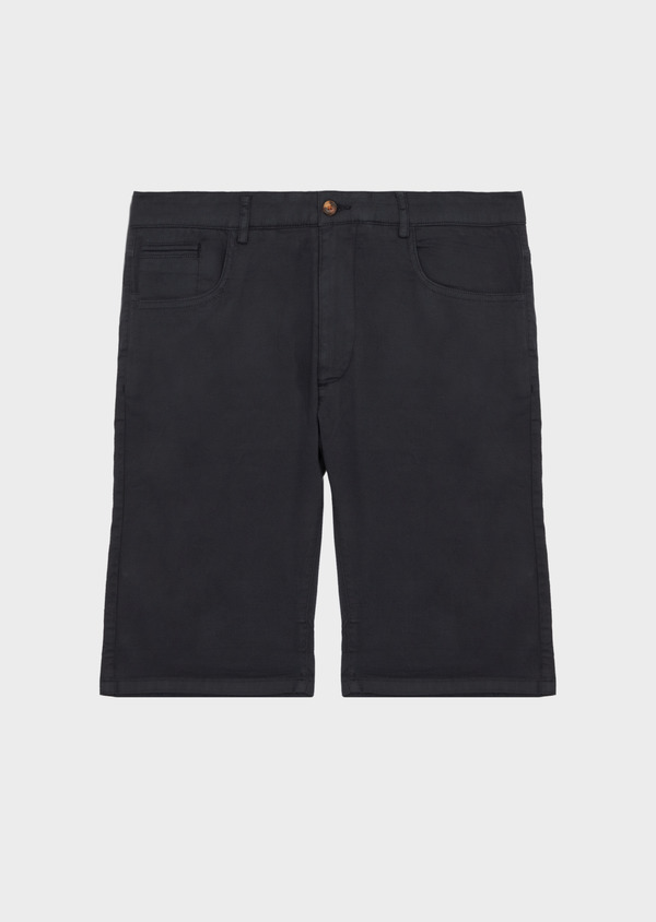 Bermuda en coton stretch uni gris anthracite - Father and Sons 39798
