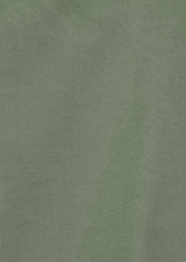 Bermuda en coton stretch uni vert kaki - Father and Sons 40648