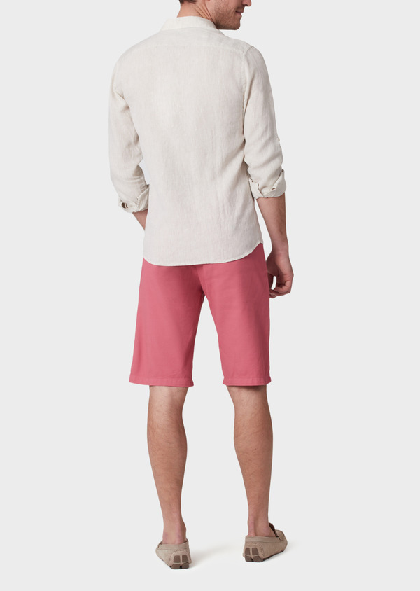 Bermuda en coton stretch uni rose - Father and Sons 34612