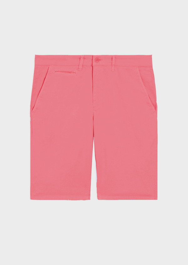 Bermuda en coton stretch uni rose - Father and Sons 34610