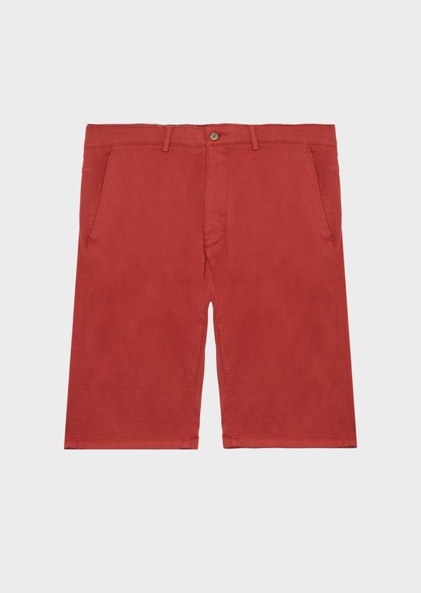 Bermuda en coton stretch uni orange foncé - Father and Sons 40096