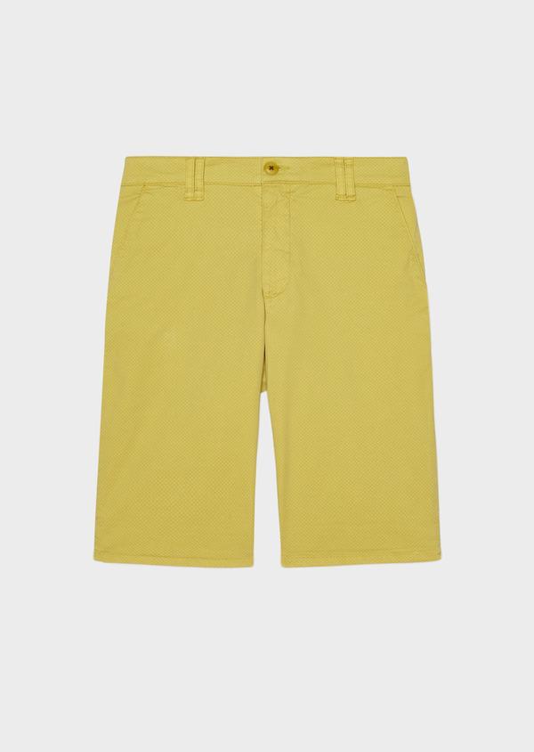 Bermuda en coton stretch à motif fleuri jaune - Father and Sons 33778