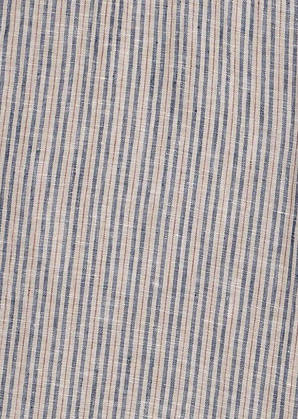 Bermuda en lin beige à rayures bleu et rouge - Father and Sons 33767