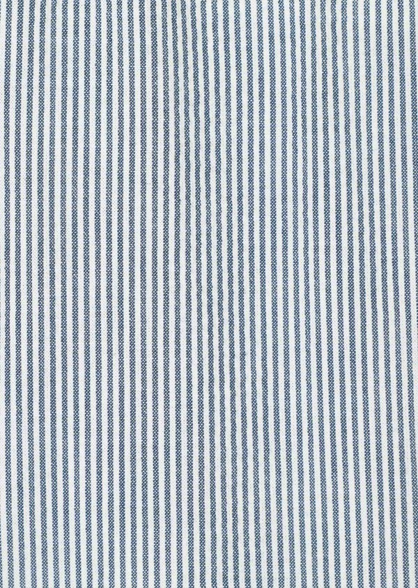 Bermuda coordonnable en coton stretch à rayures bleues - Father and Sons 33759