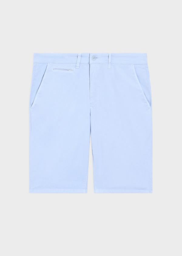 Bermuda en coton stretch uni bleu ciel - Father and Sons 34566