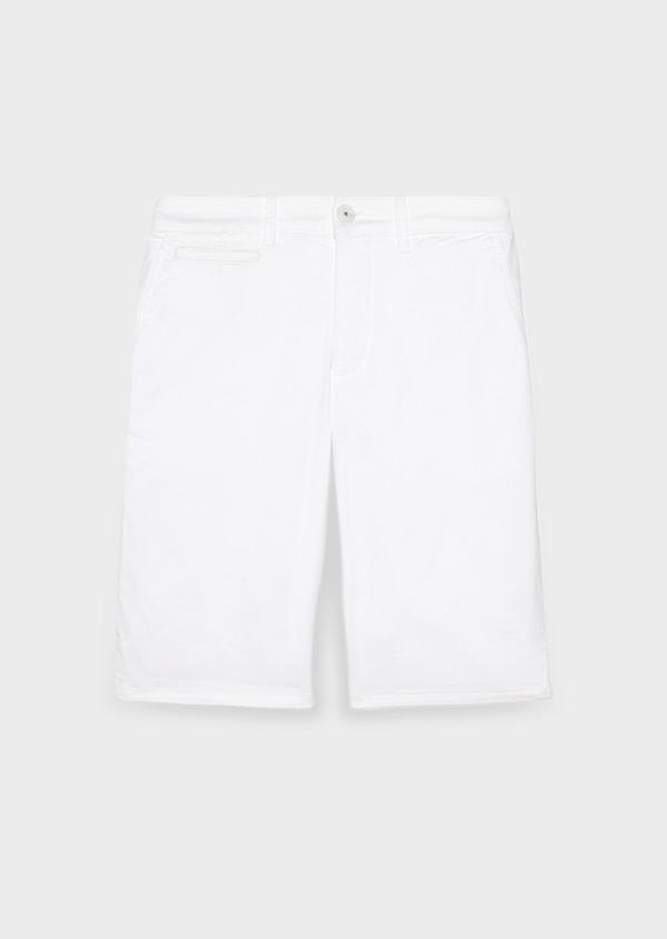 Bermuda en coton stretch uni blanc - Father and Sons 31896