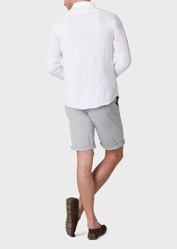 Bermuda en coton stretch uni gris - Father and Sons 33753