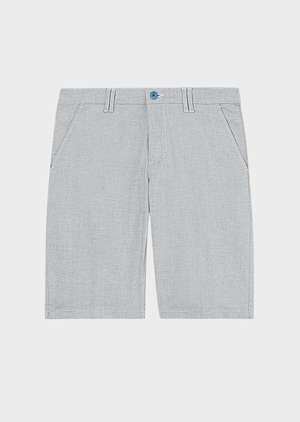 Bermuda en coton stretch uni gris - Father and Sons 33750