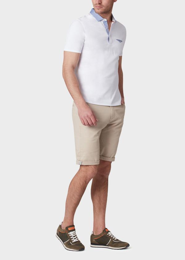 Bermuda en coton stretch uni beige - Father and Sons 33776