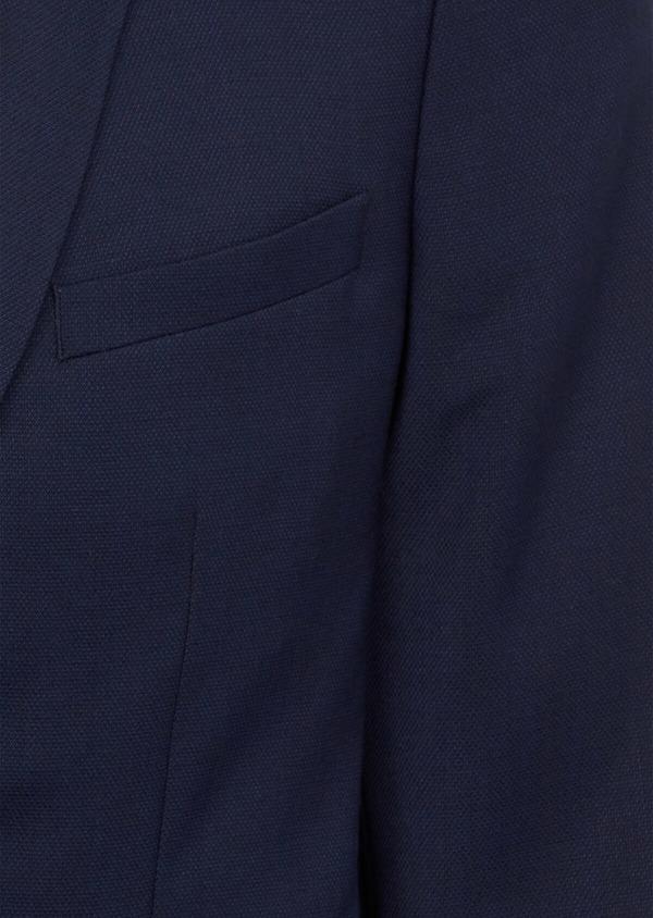 Blazer Slim en laine mélangée unie bleu indigo - Father and Sons 39996