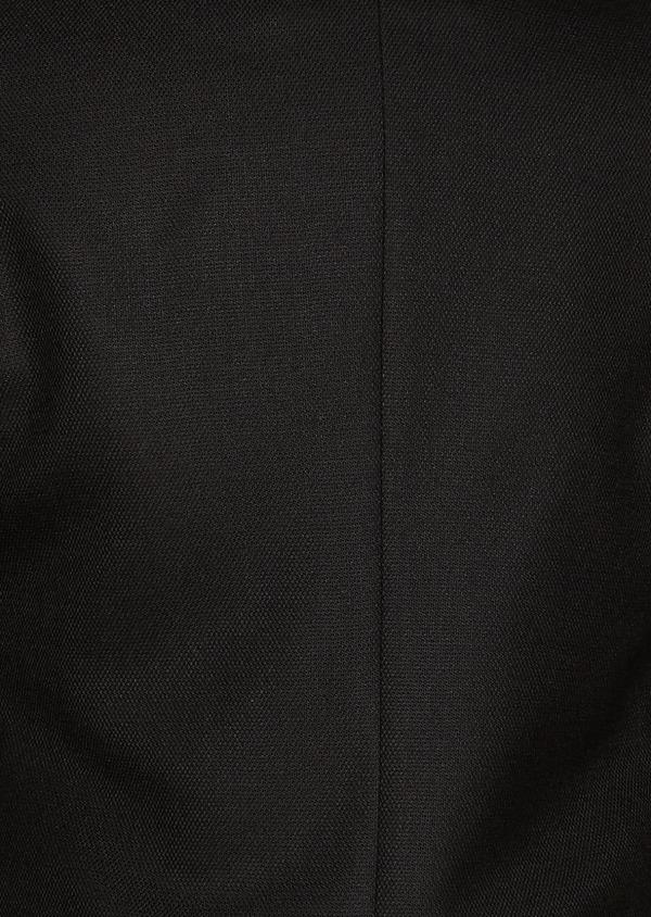 Blazer Slim en laine natée uni noir - Father and Sons 27440