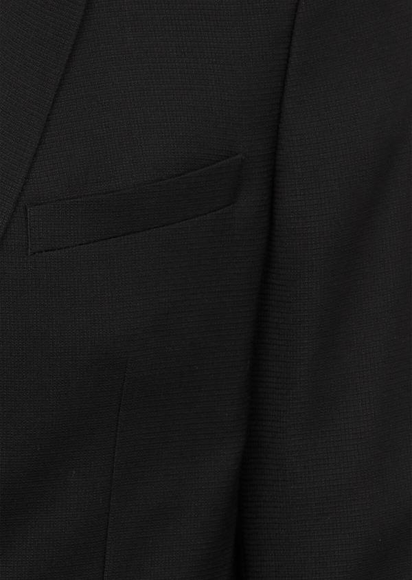 Blazer Slim en laine mélangée unie noire - Father and Sons 39285