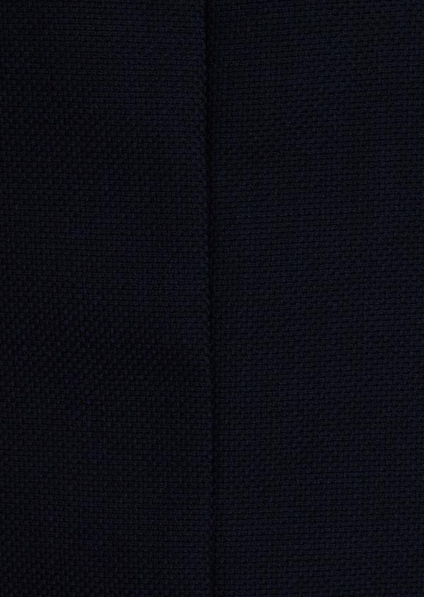Blazer Slim en laine mélangée unie bleu marine - Father and Sons 34481