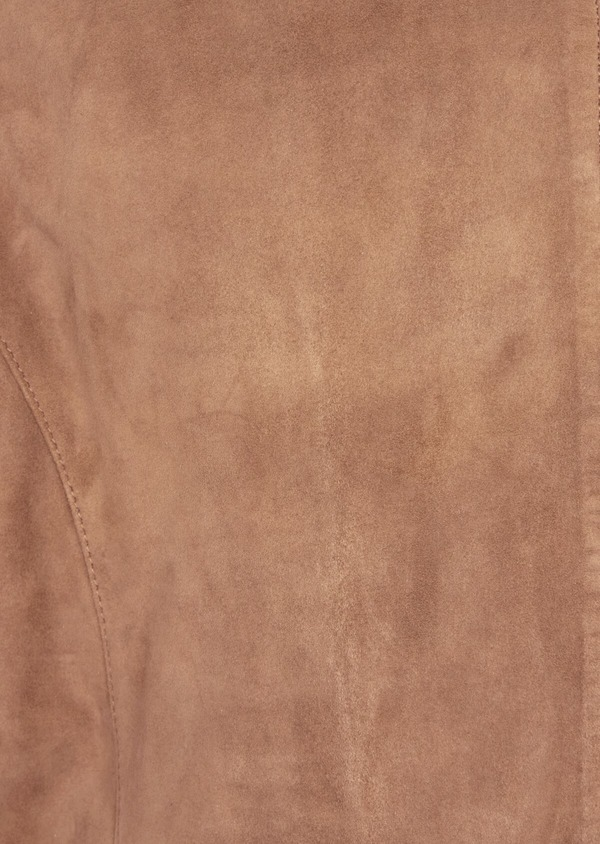 Blouson en cuir nubuck uni marron - Father and Sons 39006