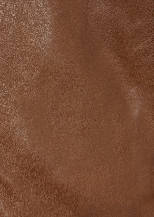 Blouson en cuir uni marron - Father and Sons 41666