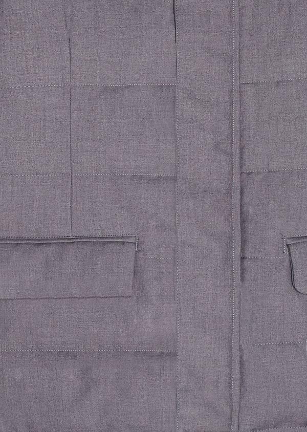 Parka unie gris anthracite matelassée à capuche amovible - Father and Sons 31061