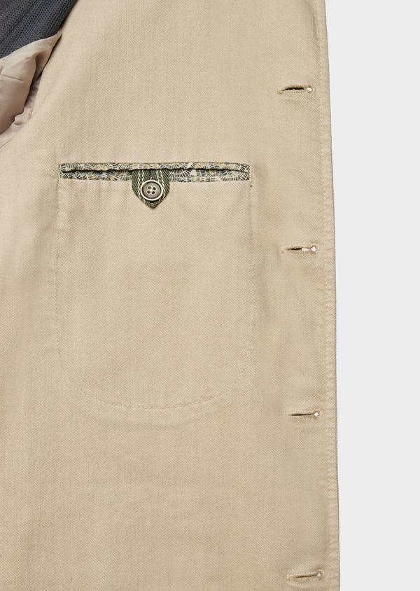 Veste saharienne en coton uni beige - Father and Sons 38532