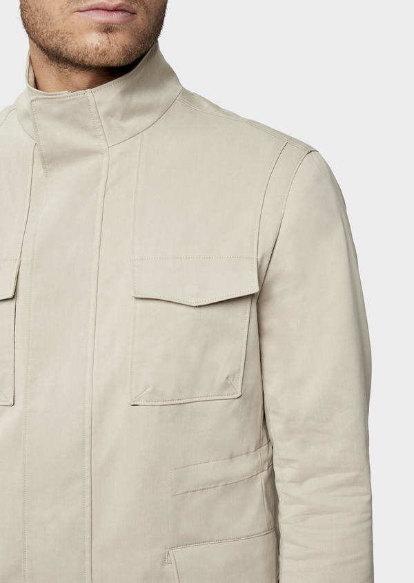 Parka courte unie beige - Father and Sons 38544