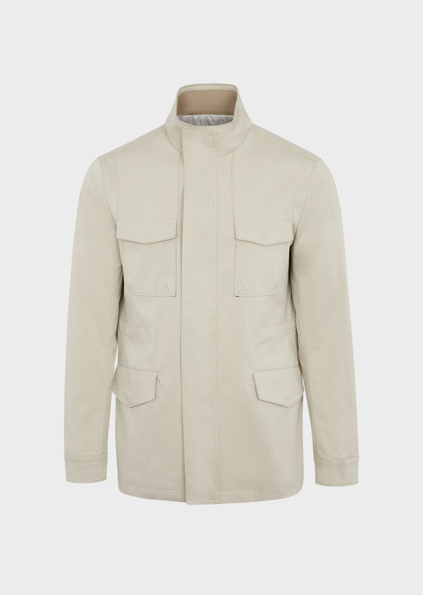 Parka courte unie beige - Father and Sons 38540